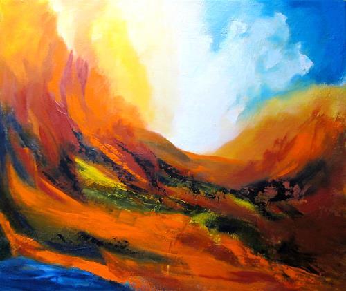 U.v.Sohns, wild und zerklüftet, Nature: Miscellaneous, Landscapes: Summer, Abstract Expressionism, Expressionism