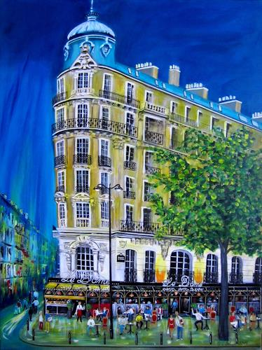 U.v.Sohns, Café le Dome, Buildings, Leisure, Contemporary Art, Expressionism