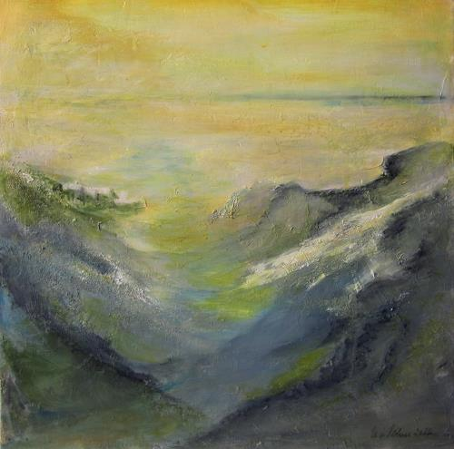 U.v.Sohns, Morgennebel, Nature: Miscellaneous, Miscellaneous Landscapes, Contemporary Art