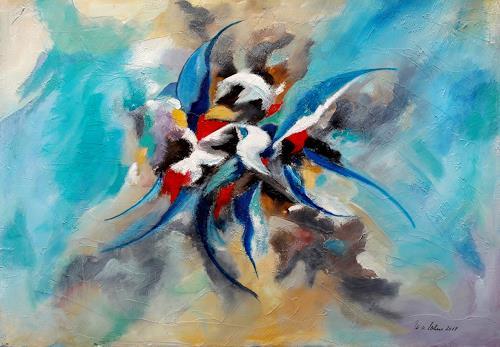 U.v.Sohns, fly with me, Abstract art, Fantasy, Abstract Art