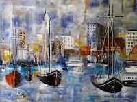 U.v.Sohns-Landscapes-Sea-Ocean-Miscellaneous-Buildings-Modern-Age-Expressive-Realism