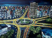 U.v.Sohns-Traffic-Car-Situations-Modern-Age-Expressive-Realism