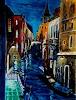 "U.v.Sohns, Venice - aus der Serie ""bella Italia, Miscellaneous Buildings, Miscellaneous Romantic motifs, Expressive Realism"