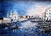 "U.v.Sohns, Canale grande aus der Serie ""bella Italia, Landscapes: Sea/Ocean, Miscellaneous Buildings, Expressive Realism"