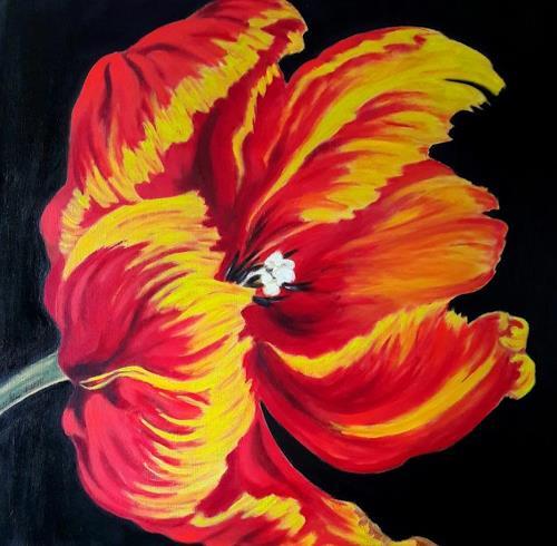 U.v.Sohns, Papageientulpe, Plants: Trees, Decorative Art, Realism