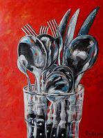 U.v.Sohns-Meal-Still-life-Modern-Age-Expressive-Realism