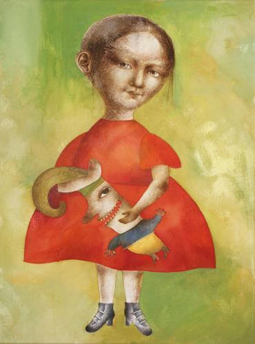 Natalja Lebsak, Mona, People: Women, People: Portraits, Contemporary Art, Abstract Expressionism