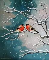 Gregor-Ziolkowski-Landscapes-Winter-Animals-Air-Modern-Age-Impressionism