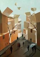 Gregor-Ziolkowski-Miscellaneous-Landscapes-People-Group-Modern-Age-Avant-garde-Surrealism