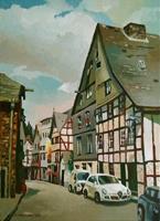 Gregor-Ziolkowski-Miscellaneous-Landscapes-Buildings-Houses-Modern-Age-Impressionism
