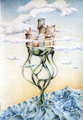 Gregor Ziolkowski, CASTLE ON THE ICEBERG, Architecture, Fantasy, Surrealism