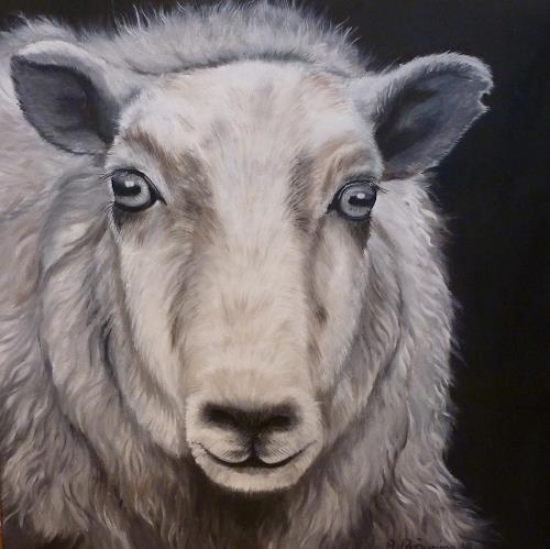 Andrea Bräuning, Schaf, Animals, Realism, Expressionism