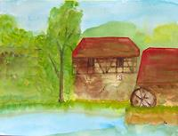 Rudolf-Mocka-Landscapes-Summer-Buildings-Houses-Contemporary-Art-Contemporary-Art