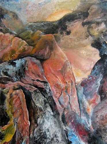 Nacka, Alpe, Landscapes, Nature: Earth, Action Painting, Expressionism