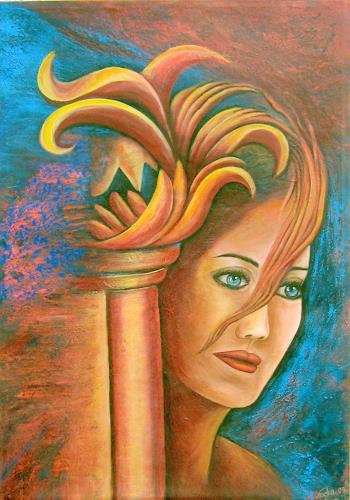 Antika By Nacka Abstract Art People Women Painting