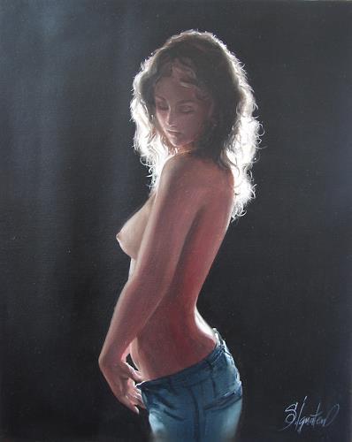 Sergey Ignatenko, Before, Erotic motifs: Female nudes, People: Women, Expressionism