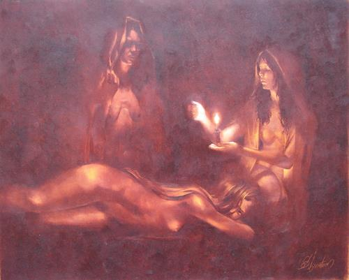 Sergey Ignatenko, Divination, Erotic motifs: Female nudes, People: Group