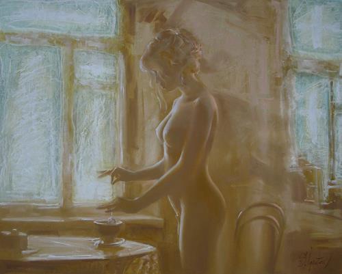 Sergey Ignatenko, January, Erotic motifs: Female nudes, People: Women, Realism, Expressionism