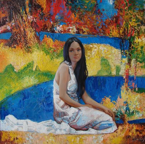 Sergey Ignatenko, Alesya, People: Women, Nature: Wood, Neo-Impressionism, Expressionism