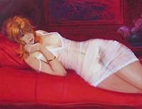 Sergey-Ignatenko-Erotic-motifs-Female-nudes-People-Women-Modern-Age-Impressionism-Post-Impressionism