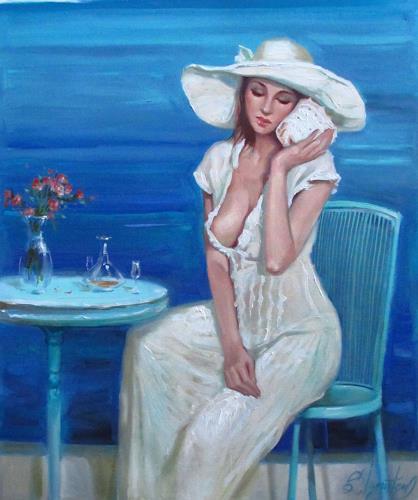 Sergey Ignatenko, Conversation with sea, Erotic motifs: Female nudes, People: Women