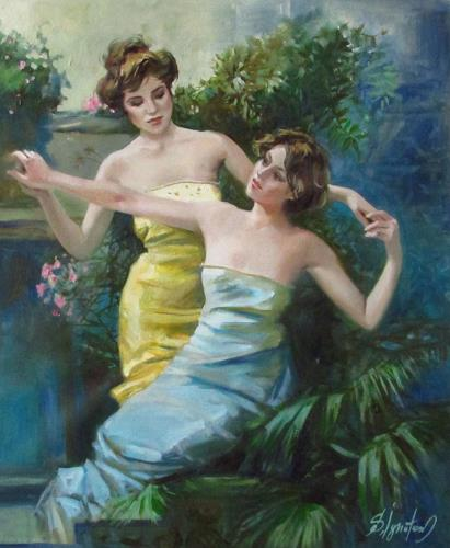Sergey Ignatenko, Dancing in garden, People: Models, People: Women