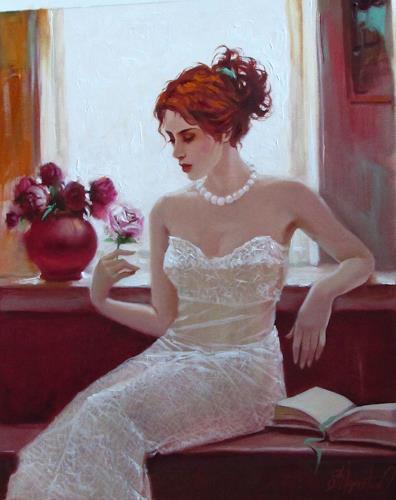 Sergey Ignatenko, White rose, People: Women, Emotions: Love