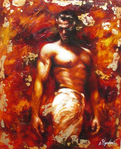 Sergey Ignatenko, Adam, Erotic motifs: Male nudes, People: Men, Post-Impressionism