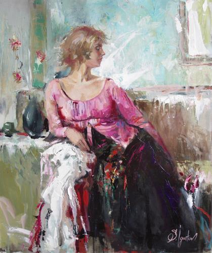 Sergey Ignatenko, Lera, Decorative Art, People: Women, Post-Impressionism