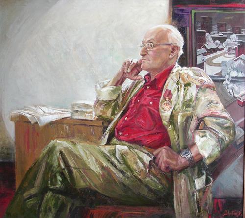 Sergey Ignatenko, Portrait of May Dancig, People: Men, People: Portraits, Expressionism