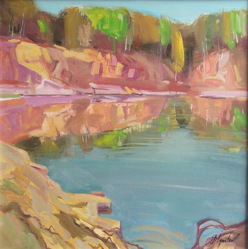 Sergey Ignatenko, The Quarry, Landscapes: Sea/Ocean, Nature: Water, Expressionism