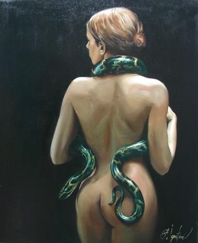 Sergey Ignatenko, Eva2, Erotic motifs: Female nudes, People: Women, Realism, Abstract Expressionism