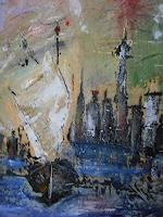 Acryl-Power-Miscellaneous-Buildings-Modern-Age-Expressionism-Abstract-Expressionism