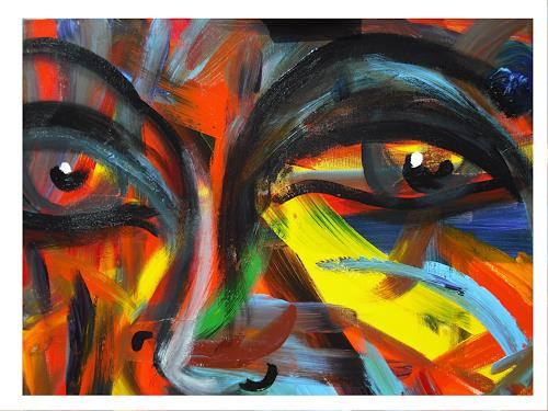 Acryl-Power, Gesicht-Expressiv, Abstract art, People: Faces, Abstract Expressionism