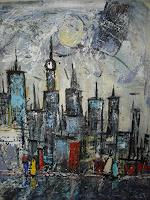 Acryl-Power-Abstract-art-Miscellaneous-Buildings-Modern-Age-Expressionism-Abstract-Expressionism