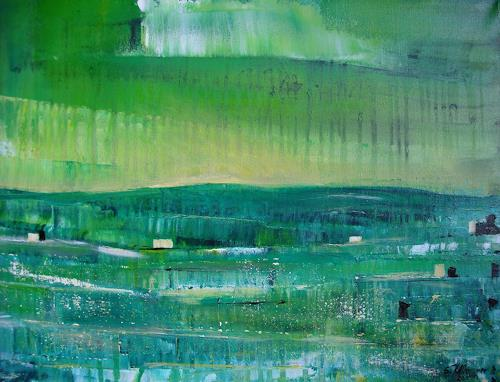 Acryl-Power, In GRÜN, Abstract art, Landscapes: Plains, Abstract Expressionism, Expressionism