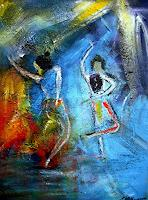 Acryl-Power-People-Group-Movement-Modern-Age-Expressionism-Abstract-Expressionism