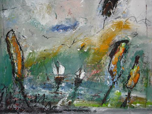 Acryl-Power, O.T, Abstract art, Landscapes: Sea/Ocean, Abstract Expressionism, Expressionism