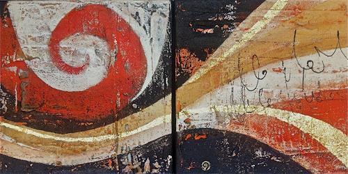 Alexandra von Burg, Diptychon, Abstract art