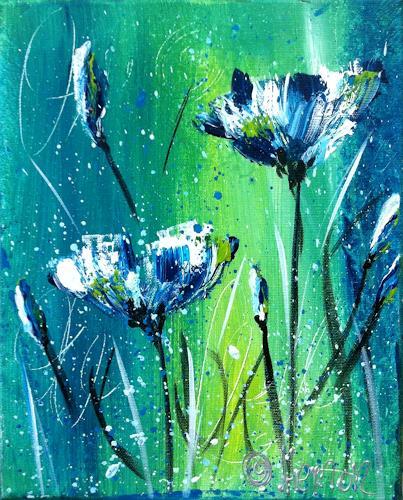 Alexandra von Burg, Flower power, Abstract art