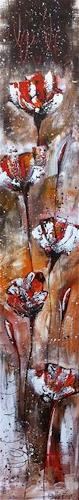 Alexandra von Burg, Rosso selvaggio, Abstract art