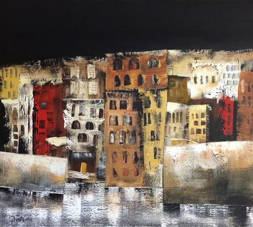 Alexandra von Burg, La notte in Città Vecchia, Abstract art, Expressionism
