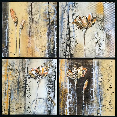 Alexandra von Burg, Broken Flowers, Abstract art, Miscellaneous, Expressionism