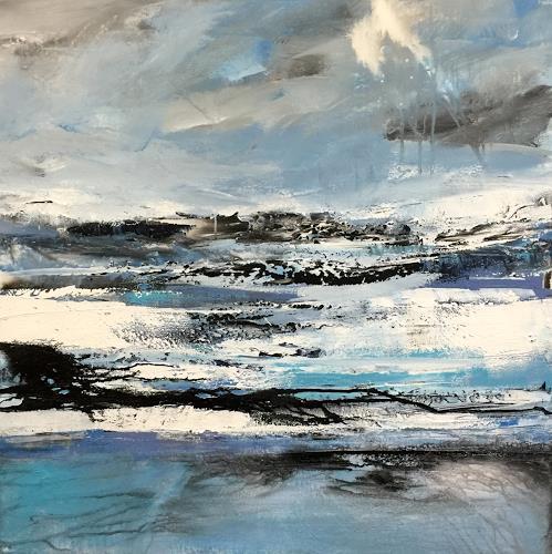 Alexandra von Burg, La luce nel Mare, Landscapes, Contemporary Art, Expressionism