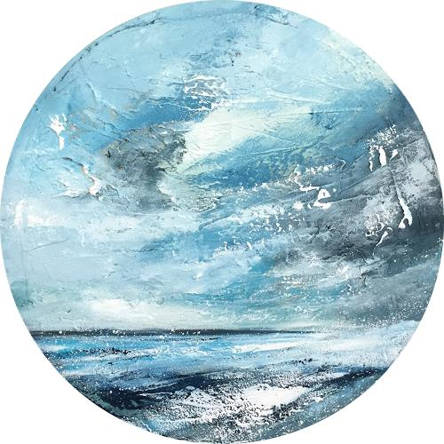 Alexandra von Burg, Vista da un oblo I, Landscapes: Sea/Ocean, Abstract Art