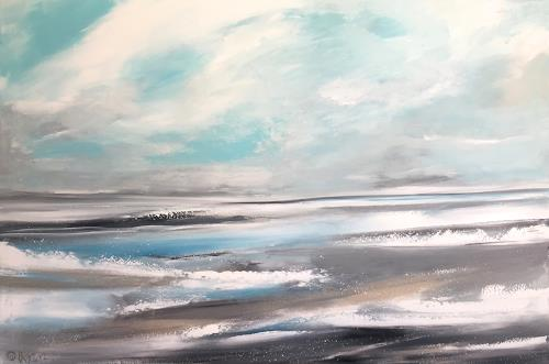 Alexandra von Burg, Ispirazione nordica, Landscapes: Sea/Ocean, Abstract Art, Expressionism