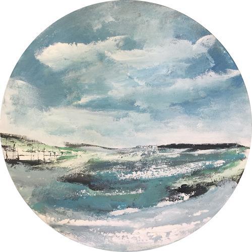 Alexandra von Burg, Tra le nuvole, Landscapes: Plains, Abstract Art