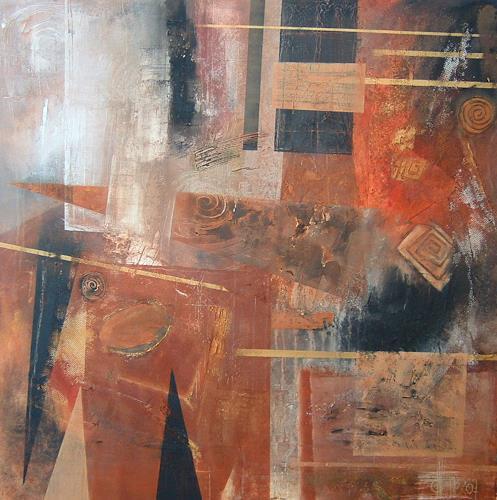 Alexandra von Burg, La macchina del tempo, Abstract art, Abstract Art, Modern Age