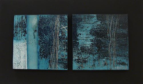 Alexandra von Burg, Black and Blue, Abstract art, Abstract Art, Modern Age