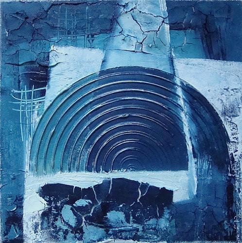 Alexandra von Burg, Trittico in blu - 2, Abstract art, Abstract Art, Modern Age
